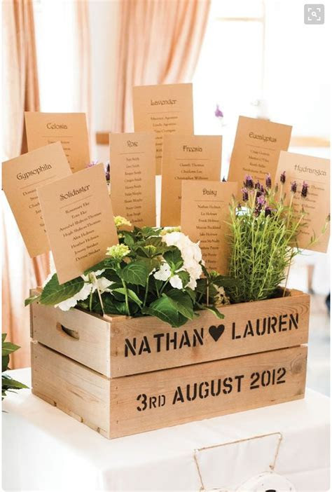 17 Creative wedding table plan ideas from Pinterest
