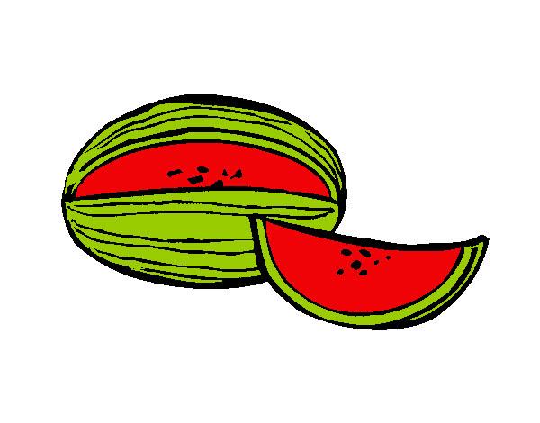 Dibujo De Melon Pintado Por Mailyn36 En Dibujos Net El Dia 16 07 13