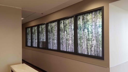 Custom Graphic Film Improves Privacy & Decor at Beaumont Hospital