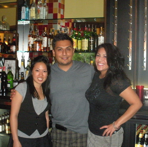 Alan and the ladies behind the Bar