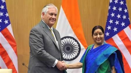 Protect India's interests on H-1B visa issue: Sushma Swaraj to Rex Tillerson