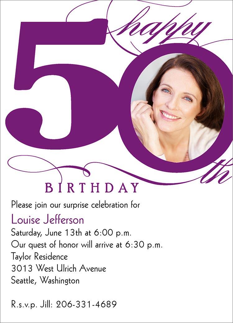 40th Birthday Ideas Free Funny 50th Birthday Invitation Templates