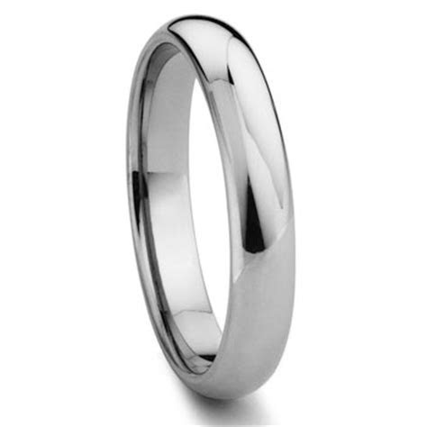 Tungsten Carbide 3MM Plain Dome Wedding Band