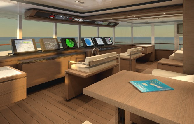 90m motor yacht PROJECT LIGHT Wheelhouse