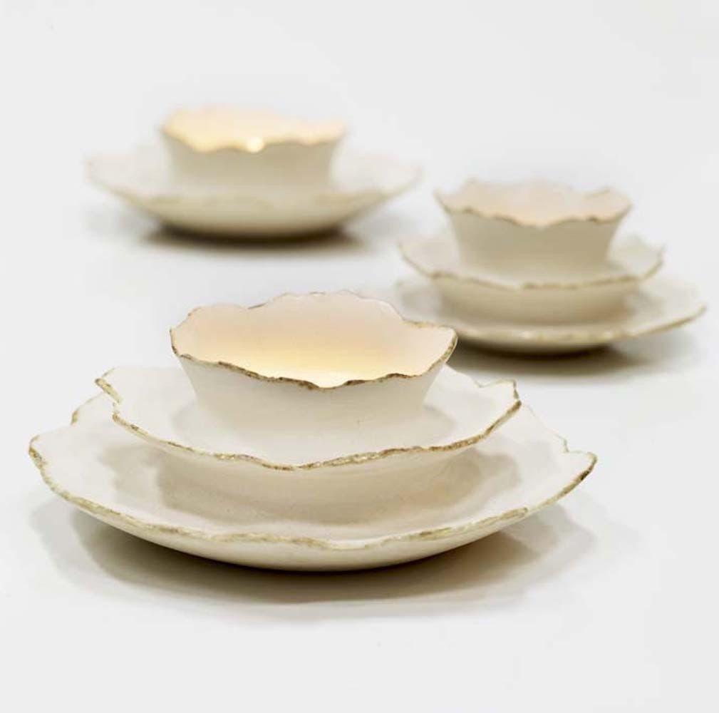 Wheel-thrown Bone Votive by Sara Paloma