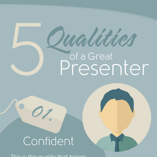 5 Qualities of a Great Presenter - Infographic Bee