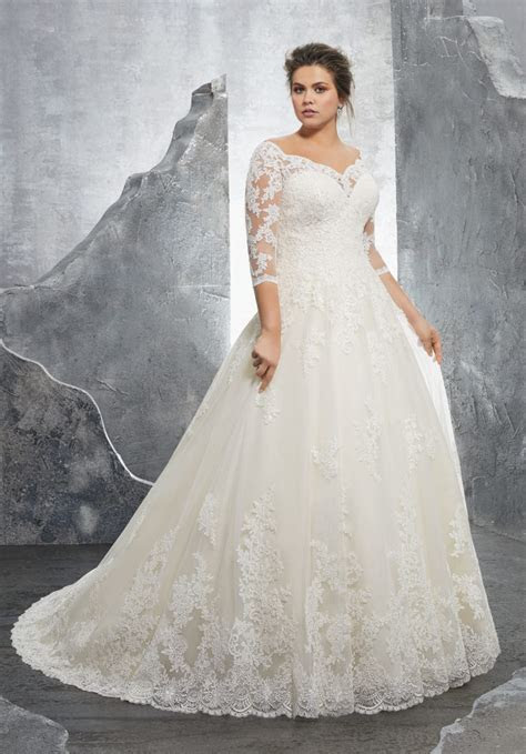 Kosette Plus Size Wedding Dress   Style 3235   Morilee