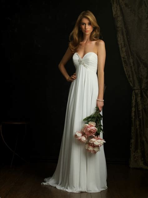 Empire Vintage Wedding Dress with Sweetheart Neckline
