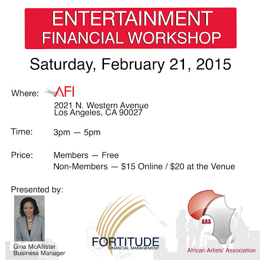 Fortitude Financial Management: Entertainment Financial Workshop in partnership with the African Artists' Association