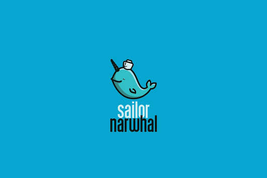Sailor Narwhal Logo Template