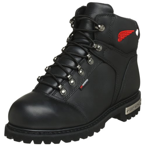 Red Wing Motorcycle Men's 971 Steel Toe Waterproof Motorcycle Boot,Black,7 D US