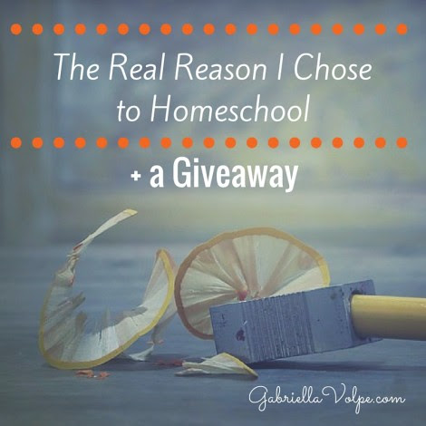The Real Reason I Chose to Homeschool (+ a Giveaway) - GABRIELLA VOLPE, B.Ed.