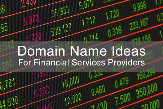 Domain Extension Alternatives to .COM for Financial Services