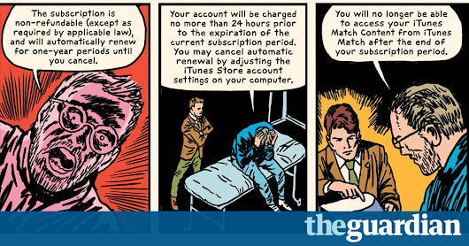 How the 20,699-word iTunes T&Cs became this year's hottest graphic novel | Books | The Guardian