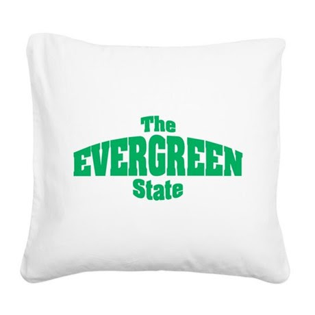 Washington State Nickname Square Canvas Pillow by mikeanddan