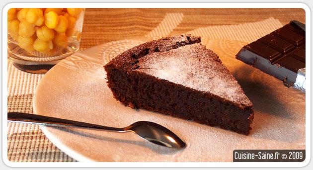Recette sans gluten : gâteau au chocolat sans beurre sans ...