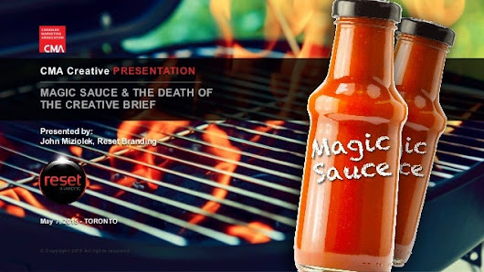 Magic Sauce & the Death of the Creative Brief