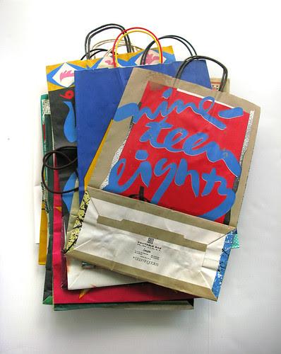 vintage Bloomingdales shopping bags
