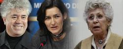 Pedro Almodóvar, Ángeles González Sinde y Pilar Bardem, exponentes del lobby del cine.