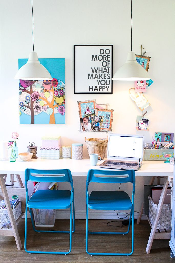 colourful work space..