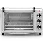Spectrum Brands TO3215SS Black & Decker Crisp N Bake Convection Air Fry Countertop Oven Silver