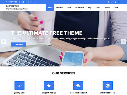 Mercantile - Best Free Multipurpose Responsive WordPress Theme