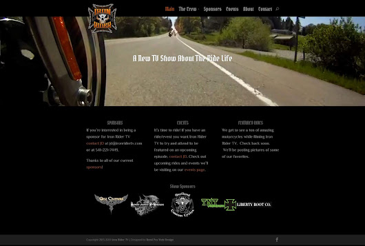 Website Design Example - Iron RIder TV - Bend Pro Web Design