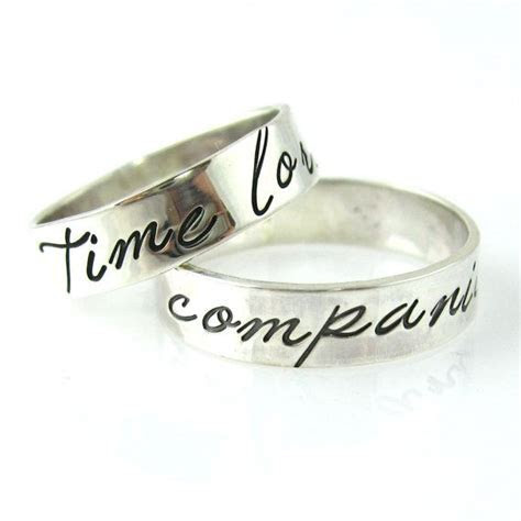 These will be our wedding rings :o) Doctor Who Wedding