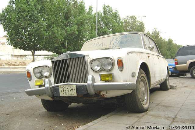 Abandoned Rolls-Royce Silver Shadow