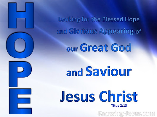 Christ-Messiah Jesus-Yeshua is our WORLD'S ONLY HOPE!!