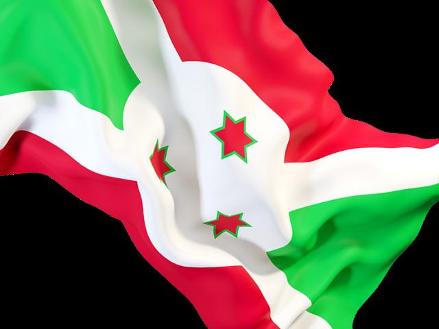 Waving Flag Closeup Illustration Of Flag Of Burundi