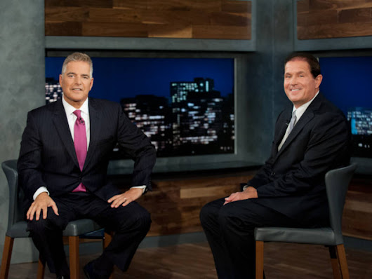 Valley View Elementary's Len Saunders talks with Steve Adubato