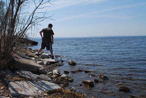 Biker Boy at the lake