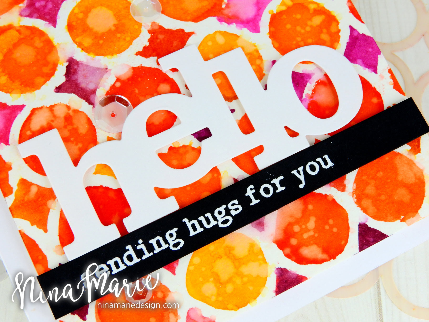 Watercoloring With Stencils + Distress Inks_2