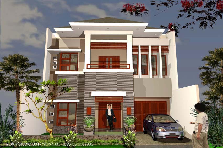 Mengagunkan rumah modern 2 lantai