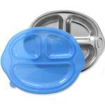 Sage Spoonfuls Happy Foodie Stainless Steel Divided Plate Lid - Blue