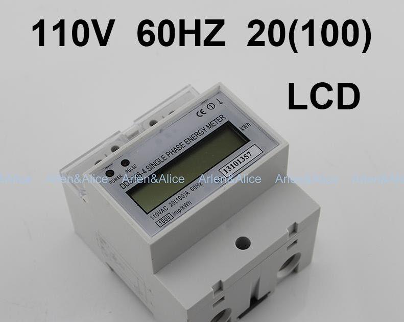 1 PCS DDS238-4 110V 20 100 A 60H LCD Single Phase DIN Rail kilowatt-hour Meter
