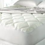Cool Touch Mattress Pad Made with Rayon from Bamboo (Twin) White - Spa Luxury