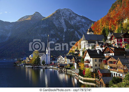 Stock Photo of Hallstatt, Austria. - Image of famous alpine village... csp17972741 - Search Photographs and Clipart Photos