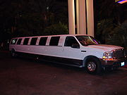 A limo similar to the one I saw...