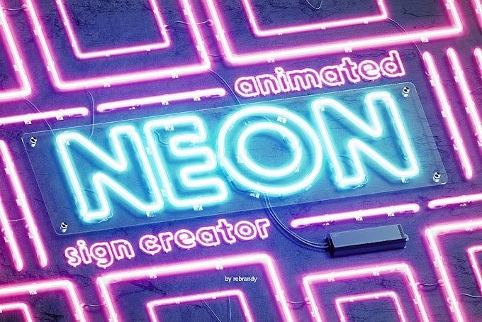 Neon Animated Sign Creator 5338598 PSD