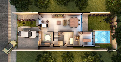Decoraci n de interiores fachadas de casas y plantas for Decoracion de casas de 7 metros