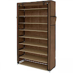 Best Choice Products Covered 10 Tier Shoe Rack Cabinet Storage Organizer