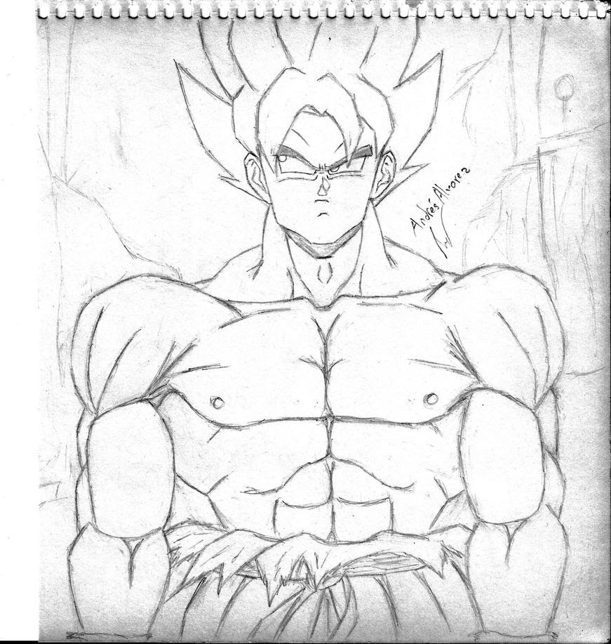 Desenhos Para Colorir Do Goku Super Sayajin 5