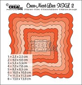 Crea-Nest-Lies set stansen no. 2 XXL / Crea-Nest-Lies dies no. 2 XXL