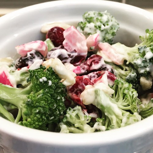 Cranberry Almond Broccoli Salad from Cooking Light