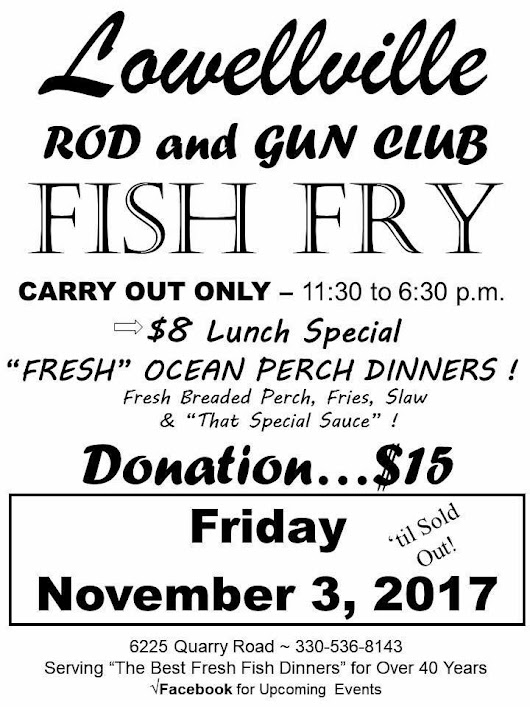 Fish Fry - Lowellville Rod and Gun Club
