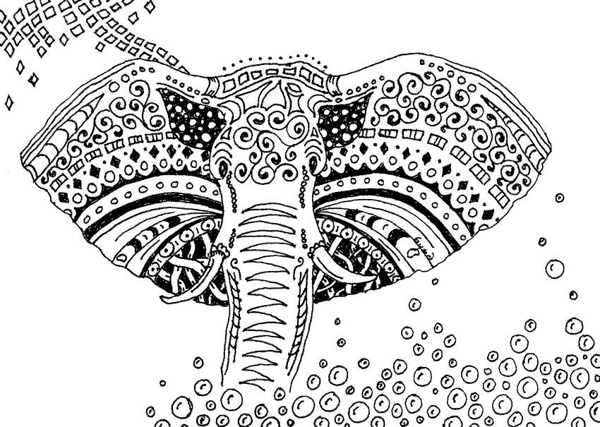 malvorlagen erwachsene elefant