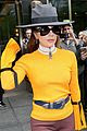 lady gaga yellow bright outfit nyc 02