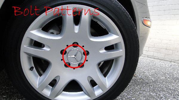Bolt pattern for Mercedes Benz wheels rims - MB Medic